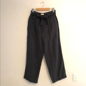 Wilfred Belted Linen Pants